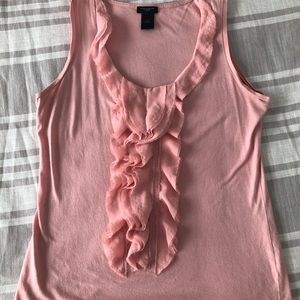 Ann Taylor sleeveless, ruffled top